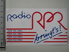 Aufkleber Sticker Radio RPR bringt's - Rundfunk (1452)