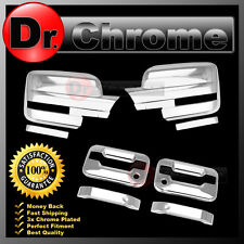 09-14 Ford F150 Chrome Mirror+2 Door Handle+no keypad+PSG keyhole Cover COMBO