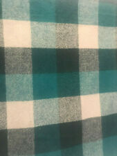 Dark Teal and Gray Plaid 16 x 16 Flannel Pillow Cover