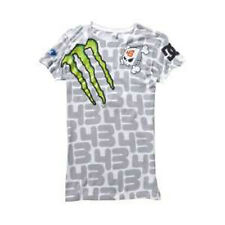 DC Shoes TW 43 Womens Ken Block Design Short Sleeve T-Shirt Large White NEW