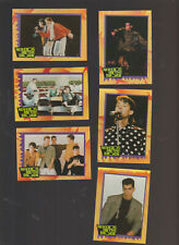 Lot of 6 New Kids on the Block trading cards