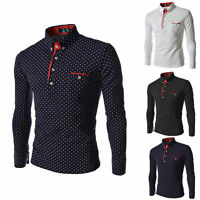 Fashion Mens Luxury Long Sleeve Shirt Casual Slim Fit Stylish Dress Shirts Tops/