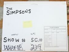 RARE THE SIMPSONS TV SHOW ORIGINAL STORYBOARDS SET USED SKETCHES DRAWING 54
