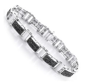 925 Sterling Silver Men's Black Onyx Amazing Classy Bracelet