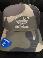 NWT Adidas Originals Men's AOP Camo Snapback Pre Curved Cap Baseball Hat