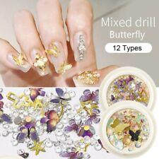 3D Mixed Butterfly Rhinestones Charm Crystal Accessories UV Gel Polish Nail Art
