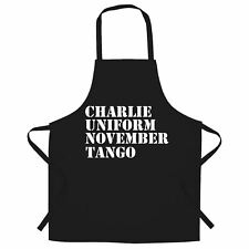 Charlie, Uniform, November, Tango Chef's Apron Nato Rude Subtle Insult