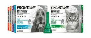 FRONTLINE SPOT ON PLUS CAT DOG Kills Fleas Ticks Lice STOPS Flea Eggs 1 3 6 Pack