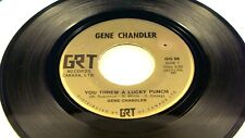 GENE CHANDLER - You Threw A Lucky Punch / Rainbow - 2 HITS / VG+ CANADA PRESSING
