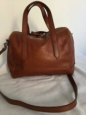 LADIES TAN LEATHER FOSSIL TOTE,MESSENGER BAG