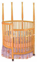 New Nursery Baby Round Crib, Woodworking Plans, Cutting List & Drawings Included