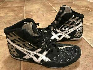 ASICS Men Split Second Black White Wrestling MMA Grappling Shoes Size 14