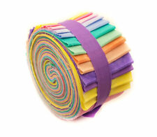 2.5 inch Pastel Jelly Roll 100% cotton fabric quilting 24 strips