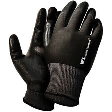 L 12 Black Nitrile Safety Coated Work Gloves Wells Lamont Size Large