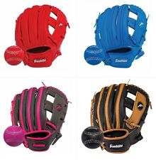 Franklin Ready-To-Play YOUTH TeeBall / Baseball Glove & Ball Combo, 9.5""