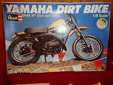 "Revell 1978 1/8 Yamaha Dirt Bike Over 10"" Long Model Started RARE Original Box"