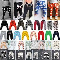 Baby Kids Boy Girl Harem Pants Trousers Casual Joggers Sweatpants Long Leggings