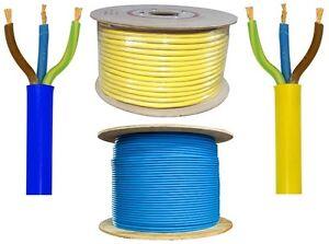 3 Core Arctic Flex Wire Cable Blue Yellow 1.5mm 2.5 4mm Caravan 16a 13a 3183 AG
