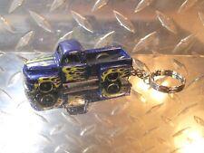 2018 Hot Wheels Blue '49 Ford Classic Antique Truck Custom Key Chain Ring