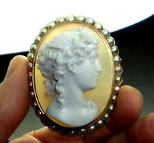 RAREST MUSEUM QUALITY HARD STONE CAMEO BROOCH OF PSYCHE THE GODDESS OF THE SOUL