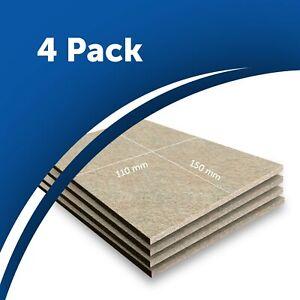 4x Beige Furniture Felt Pad Sheets 15x11cm Hardwood Flooring Protector 5mm thick