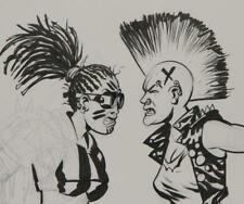 """ERIC POWELL original art, ROLLER DERBY bad girls, 11"""" x 14"""", Goon fame"""