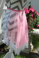 Vintage Betty Dain Pink & Floral Lace Tricot Apron/ Fantasy Lingerie/ Costume