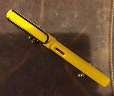 LAMY Safari gelb schwarzer Clip ungemarkte schwarze Stahlfeder B unbenu. selten!