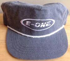 1980s 1990s E-ONE FIRETRUCK TRUCKER BASEBALL CAP HAT, GRAY, NEW, NOS, VINTAGE