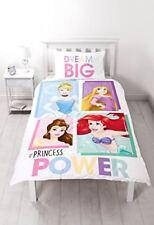 Princesa Disney individual juego colcha Edredón Niña Niños blanco