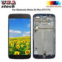 Fit For Motorola Moto E4 Plus XT1775 LCD Touch Screen Digitizer + Frame