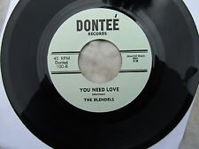 BLENDELS YOU NEED LOVE / DID YOU MEAN dontee 100 re-issue