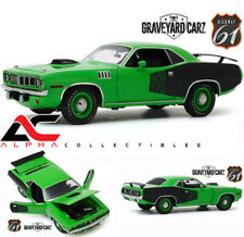 "HIGHWAY 61 18017 1:18 1971 PLYMOUTH CUDA ""392 HEMI"" GRAVEYARD CARZ SEMA CAR"