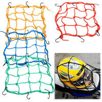 30*30cm Motorcycle 6 Hooks Hold Down Luggage Net Web Bungee Stretches