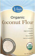 Viva Labs Organic Non-GMO and Gluten-Free Coconut Flour, 4 Pound
