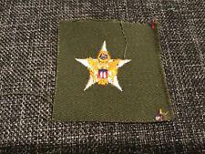 1960's Us Army General Staff Cloth Badge Insignia Patch
