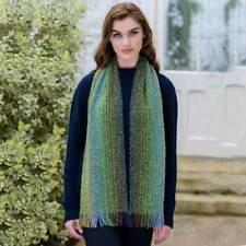 Green Mix Irish Skellig Scarf Cashmere & Merino Wool By Mucros Weavers v58