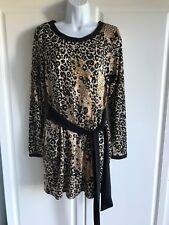 "NEW J.F.W. Dress size Medium Brown Black Animal Print Stretch 30""Waist 33""Long"