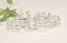 Fashion wavy toe rings Adjustable Wholesale Lots 10pcs 925sterling solid Silver