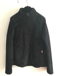 The North Face Half Zip Jacket Womens Size Large Black Fleece Warm Hygge Active