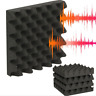 5x25X5CM Studio Acoustic Absorption Foam Sound Noise Insulation Panel Tile KTV