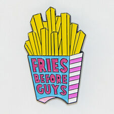 French Fries Enamel Pin Badge Pin Up Food Chips Funny Brooch Gift Aussie Seller