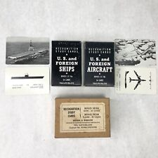 Recognition Study Cards U.S. Navy Training Survival Set * Ships and Planes *