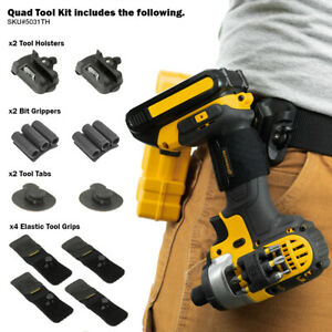 Spider Tool Holster - QUAD TOOL KIT - 10 Piece Set for Carrying Tools