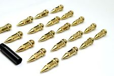 1320 Performance Spike Gold STEEL LUG NUTS 12x1.5 20 PCS JDM lock 75mm
