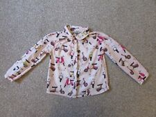 Cute & unusual Next girls 3-4 years pink mopeds scooters blouse shirt top