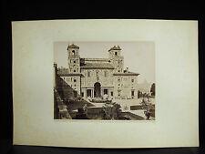 fotografia tirage albuminé Villa Médicis Rome Roma Italia c1880 photographie