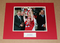 MARK WRIGHT IN LIVERPOOL SHIRT HAND SIGNED AUTOGRAPH PHOTO MOUNT + COA