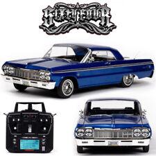 Redcat RER13526 SixtyFour 1964 Chevrolet Impala SS Hopping Lowrider coche listo para correr azul