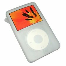 White Rubber Silicone Skin Cover Case For iPod Video 30GB Classic 80GB/120GB/160